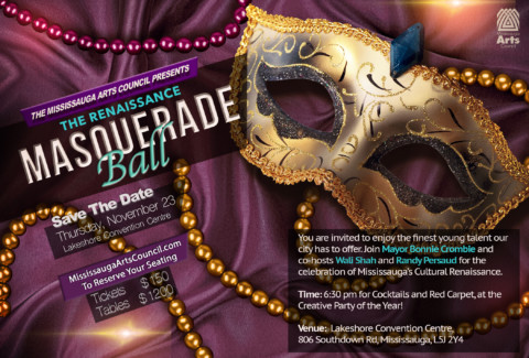 Renaissance Masquerade Gala Tickets On Sale Now!