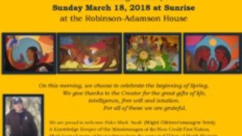 The Spring Equinox Sunrise Ceremony